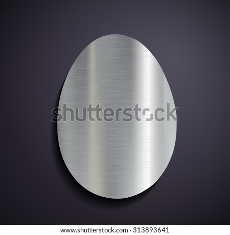Flat metallic logo egg. Stock image.
