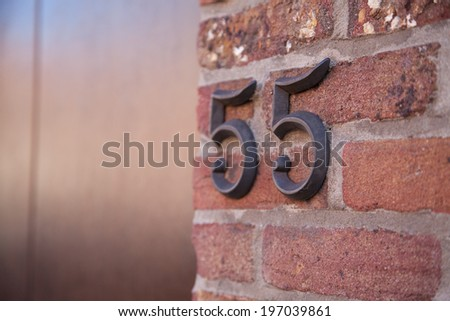 Flat Number Concept - stock photo