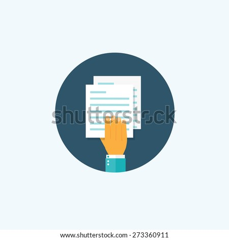 Flat paper document. Emailing and global communication. Letter. Book and learning. Application, document. - stock photo