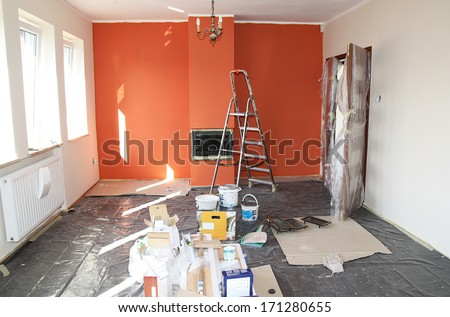 flat renovation - stock photo