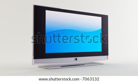 flat screen - stock photo
