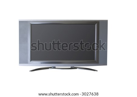 flat screen tv isolated on a white background - stock photo
