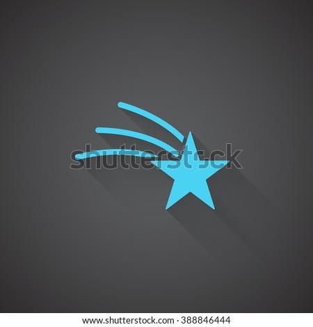 flat shooting star web app icon stock illustration 388846444
