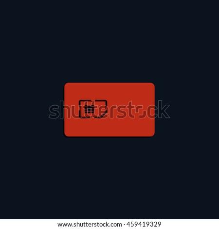 Flat sim card case illustration. - stock photo