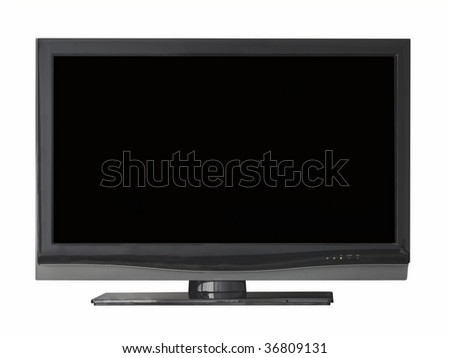 Flat television isolated from light