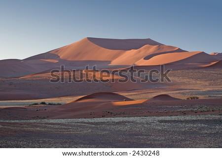 Flat Top Dune at Sunset - stock photo