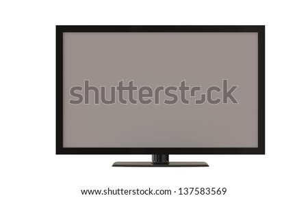 flat tv screen isolated on white