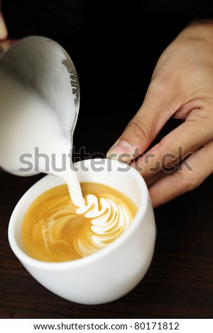 Flat white coffee - stock photo