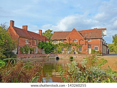 Flatford Mill. Constable Country, Suffolk England. - stock photo
