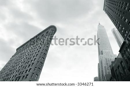Flatiron building, Broadway and 23rd street, Manhattan,ny - stock photo