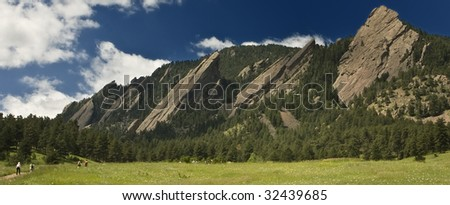 Flatirons in Boulder Colorado - stock photo