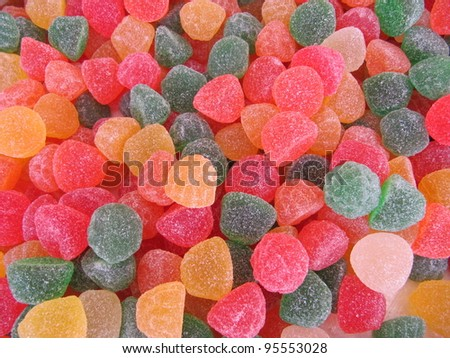 Flavored jelly beans - stock photo