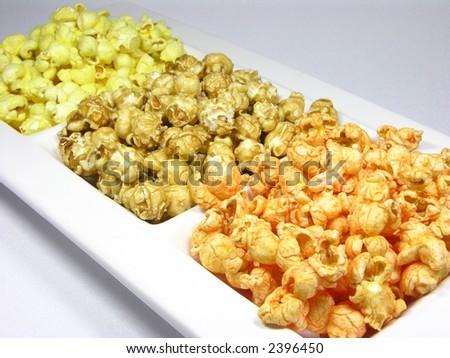 Flavored Popcorn - stock photo
