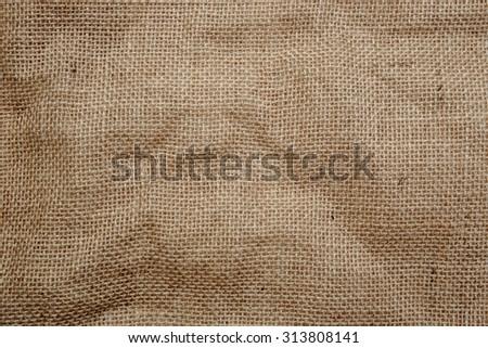 Flax burlap texture background - stock photo