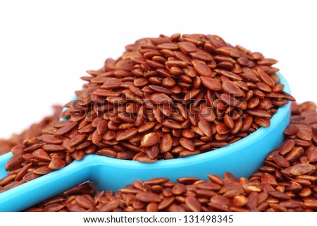 Flax or edible tisi seeds - stock photo