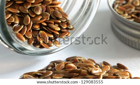 Flax Seed - stock photo