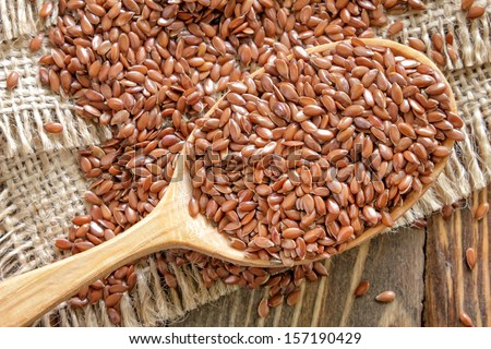 Flax seeds - stock photo