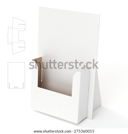 Flayers Stand with Die Cut Template - stock photo