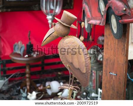 Flea market - stock photo