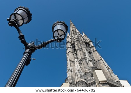 Fleche of Saint Michel located at Bordeaux, France - stock photo