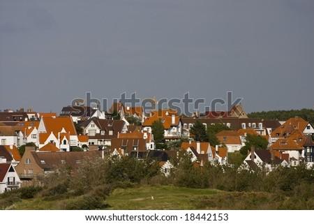 Flemish houses - stock photo