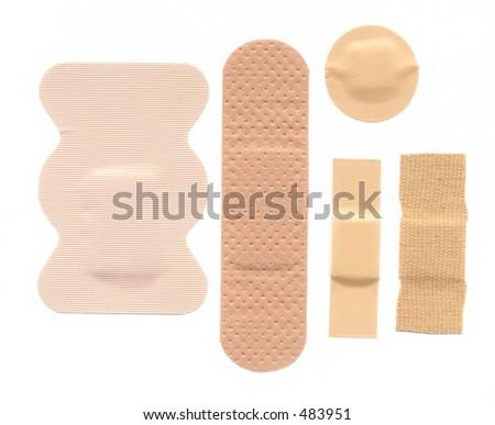Flesh coloured bandages - stock photo