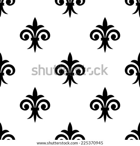 Fleur de lys seamless pattern background for any medieval design or wallpaper