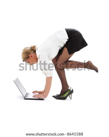 girls bending over stock images royaltyfree images