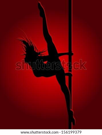 Flexible dancing girl - stock photo