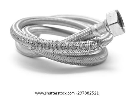 flexible water pipe  - stock photo