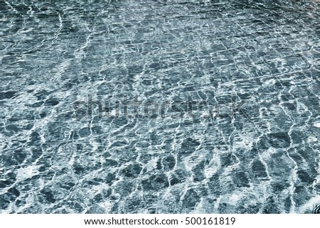 flickering background and abstract texture of brilliant water of bright silvery green color