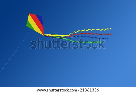 Flight Kite against a backdrop of blue sky