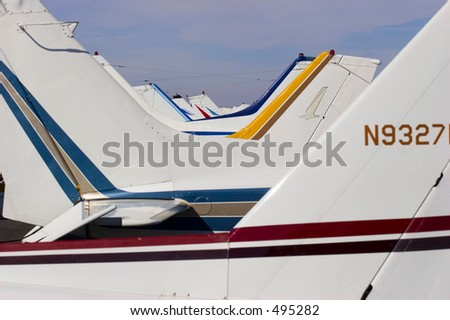 Flight Line - stock photo