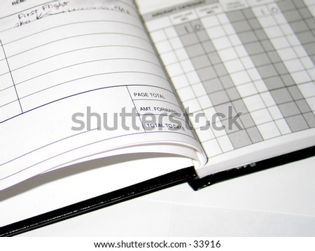 Flight Log Book - stock photo