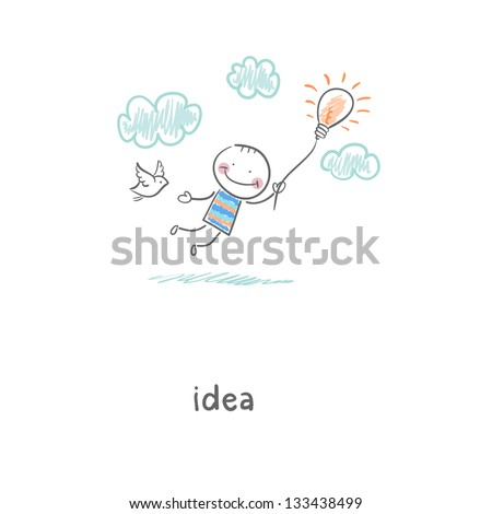 Flight of ideas. Illustration. - stock photo