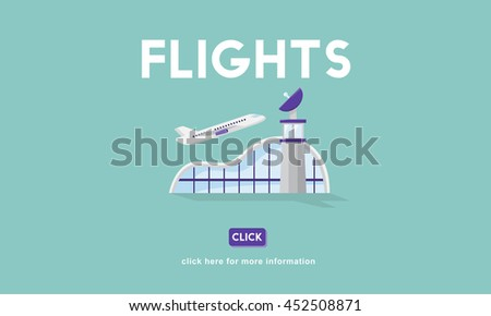 Flights Business Trip Travel Information Concept - stock photo