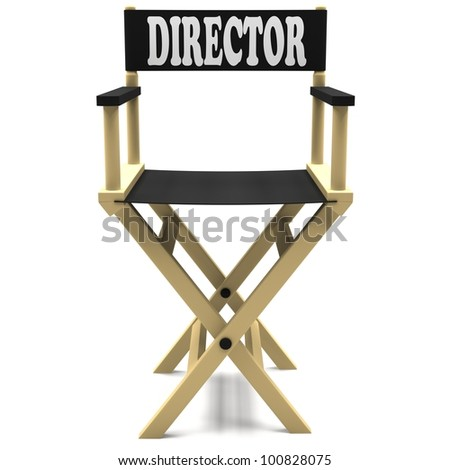 Flim industry: directors chair on a white background. - stock photo