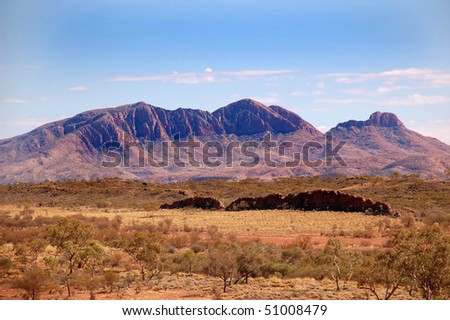 Flinders Ranges mountains in central Australia - stock photo