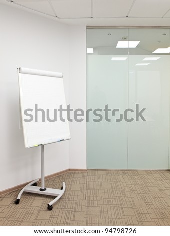 flip chart in the office room