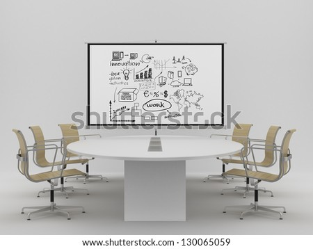 flip chart with business concept in office - stock photo