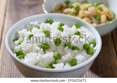 Flip egg beans and rice