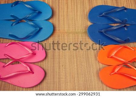 Flip flop sandals - stock photo