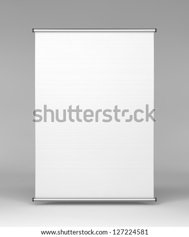 Flipchart, Front View on Gray Background. - stock photo