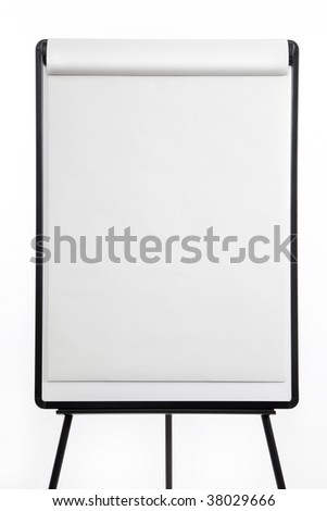 Flipchart on easel closeup - stock photo