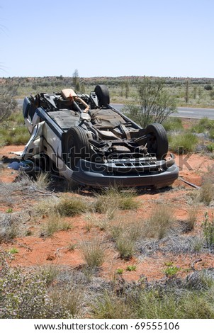 Flipped Car in the Outback