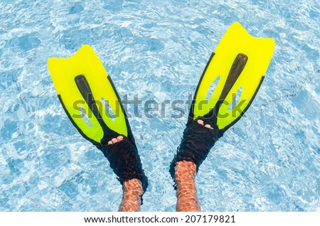Flippers in the pool. Photo for microstock - stock photo