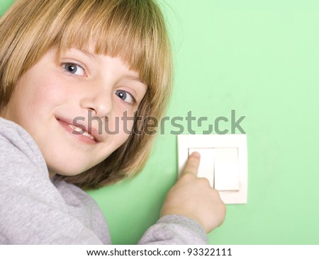 flipping the switch - stock photo