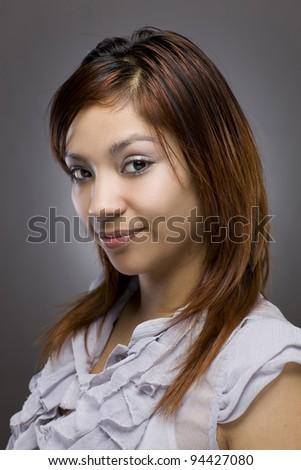 Flirty Hispanic Woman Portrait - stock photo