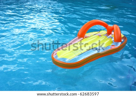 Float in water - stock photo