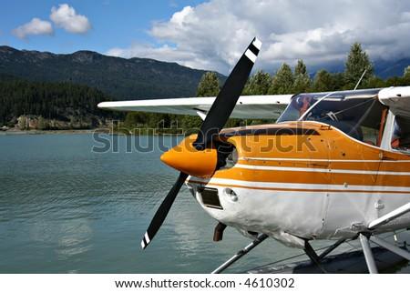 Float plane - stock photo